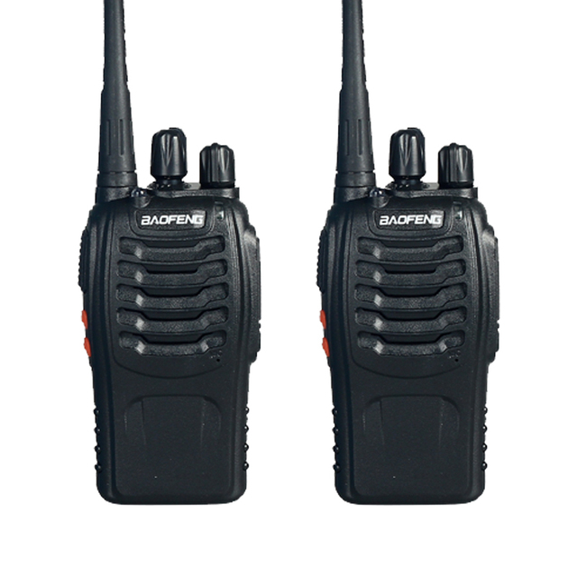 Dual Band Two Way Radio 2 PCS baofeng BF-888S  Walkie Talkie 5W Handheld Pofung bf 888s 400-470MHz UHF VHF radio scanner