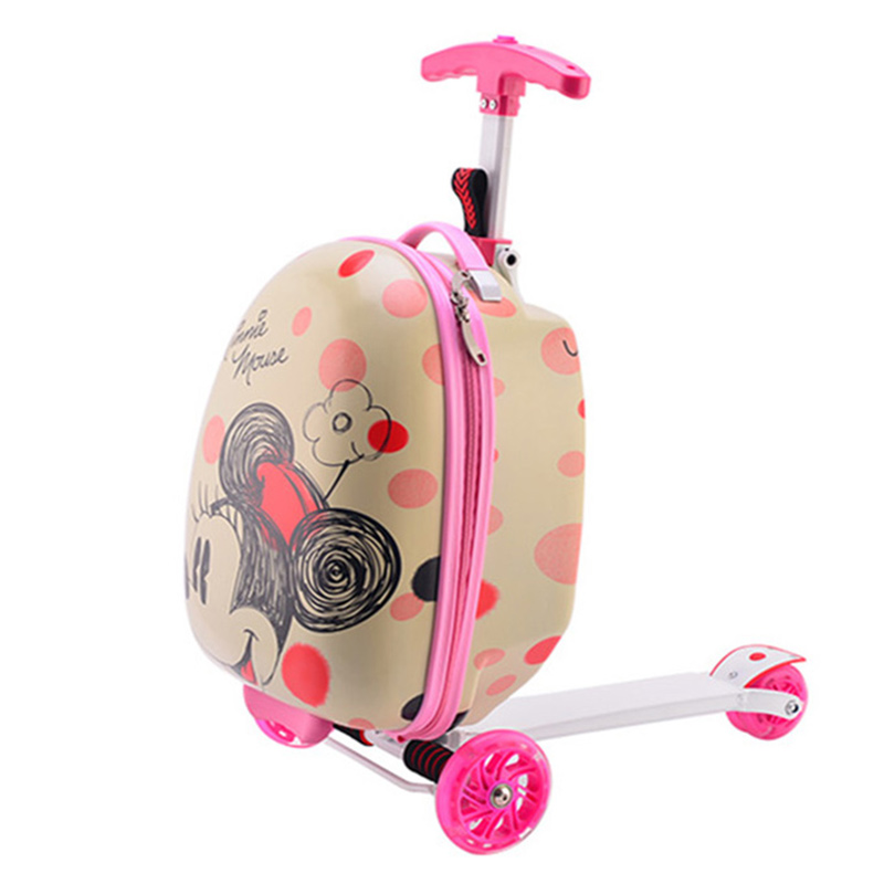 Pull-Rod-Box Luggage Baby Lightening-Wheel Girl's Children's Boy And