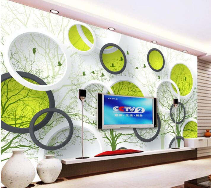 3d wallpaper custom mural non-woven 3d room wallpaper Wall stickers Abstract tree 3 d TV setting photo wall paper for walls 3d