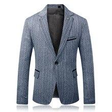 Лучший!  Темно-серый полосатый мужской пиджак для выпускного вечера с надписью с надписью на одной пуговице  �