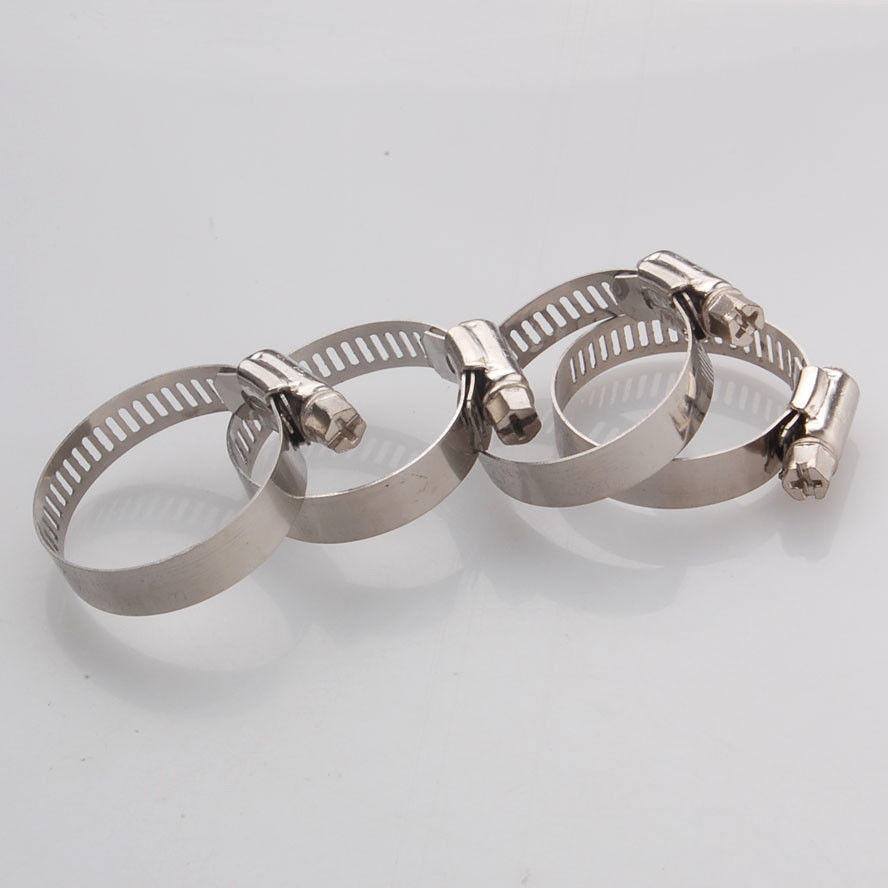 """20x Adjustable 7//8/""""-1 1//8 Stainless Steel Drive Hose Clamps Fuel Line Worm Clips"""