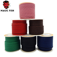 Magic Fish Braided Leather Cowskin Rope DIY Charm Men Bracelets Genuine Leather Cord Wholesale Supplies Hand
