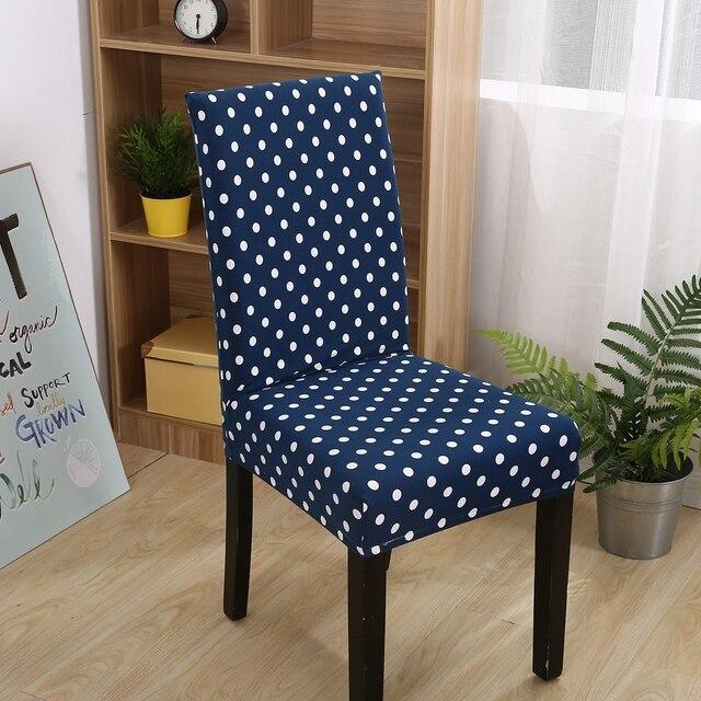 Fxxxy azul universal stretch fundas para sillas para comedor breve dots extra ble lavable a - Fundas asiento sillas comedor ...
