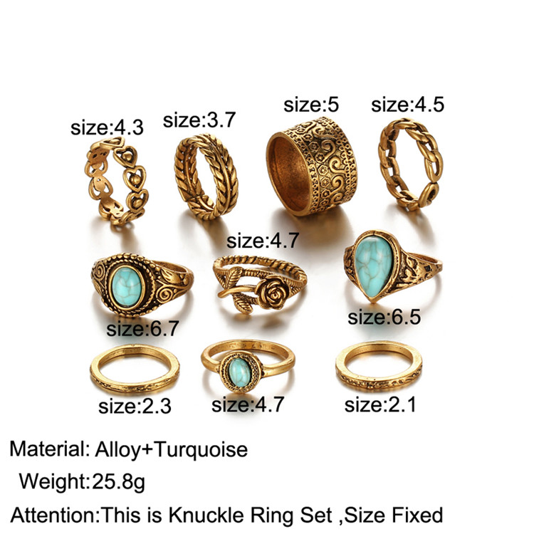 HTB1fqKWRXXXXXXEXFXXq6xXFXXXE 10-Pieces Vintage Tibetan Turquoise Knuckle Ring Set For Women - 2 Colors