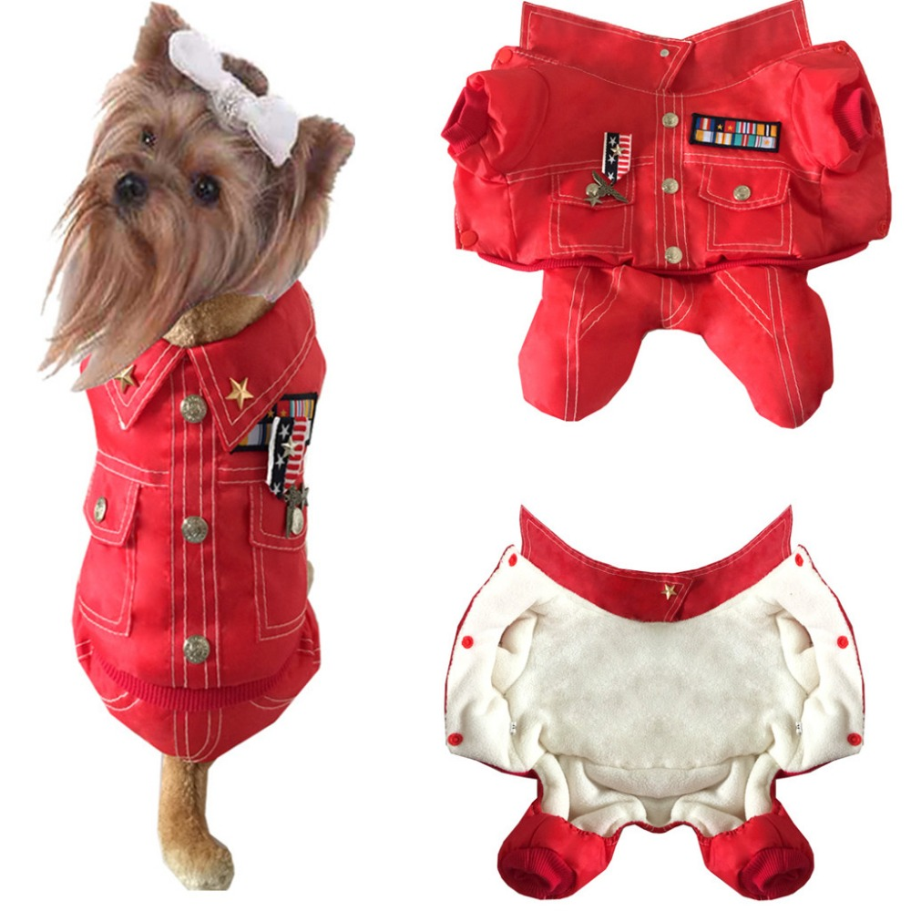 Hot selling pet clothes winter warm soft fleece dog clothes puppy clothes cat dog coat pet dog winter thick four legs suit