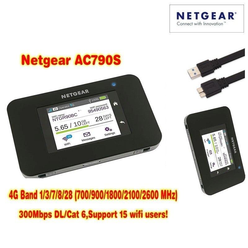 Débloqué Aircard AC790s 4G Mobile Hotspot Sierra Sans Fil LTE CAT6 300 M Portable WiFi Routeur 4G modem AC790S