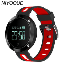 Niyoque DM58 Smart Band сердечного ритма артериального давления часы IP68 Водонепроницаемый Спорт Браслет фитнес-трекер для iOS и Android