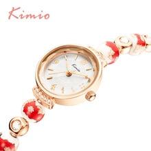 Marca de fábrica de KIMIO Reloj Tema de Cinco Colores de la Flor Para Las Mujeres Hermosas Joyas Pulsera de Las Señoras Relojes 2016 Nueva Llegada relogio feminino