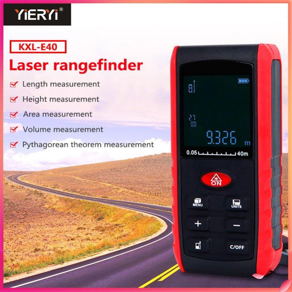 Yieryi Handheld Digita Laser Distance Meter Laser Rangefinder Ruler Distance Measuring Device KXL-E40m 60m 80 100mYieryi Handheld Digita Laser Distance Meter Laser Rangefinder Ruler Distance Measuring Device KXL-E40m 60m 80 100m