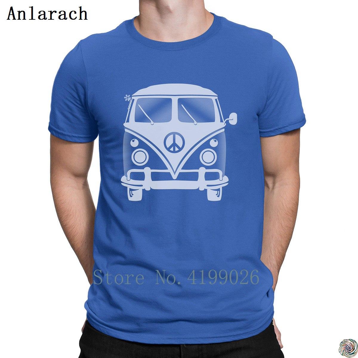 Hippie Van T-shirt Quirky Designs The New Short Sleeve Men's Tshirt 2018 Unisex HipHop Tee Shirt Vintage