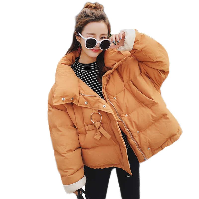 NEW Oversized Coats Winter Coat Women BF Style Short Bread Jacket Women Sweet Cotton Jacket Parka Jaqueta Feminina Inverno C3638
