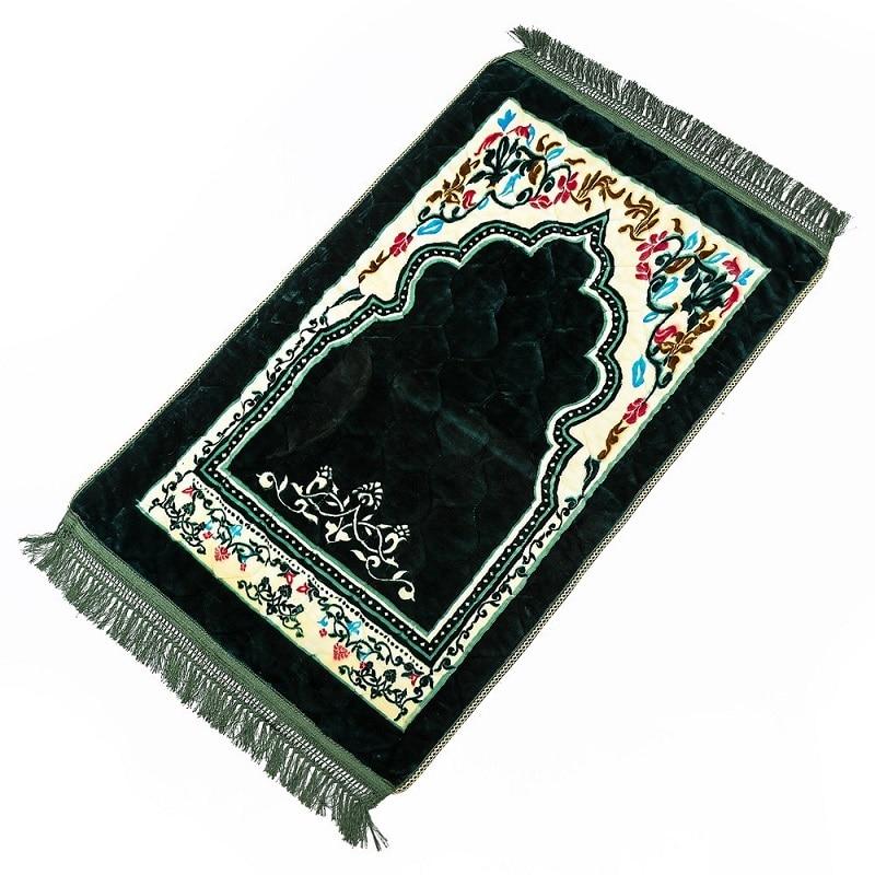 Image 2 - Wholesale 75*120cm Thick Islamic Muslim Prayer Mat Salat Musallah  Prayer Rug Tapis Carpet Tapete Banheiro Islamic Praying MatMat   -
