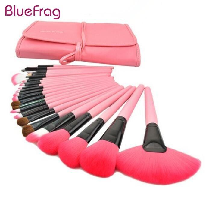 BLUEFRAG 24pcs četkice za šminku Set za vunu životinja kozmetički - Šminka