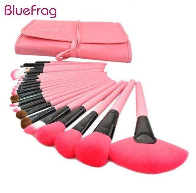 Bluefrag 24 unids pinceles de maquillaje de lana de los animales cosmetic tool kit fundación sombra de ojos blush maquillaje pincel pincel maquilagem bl339