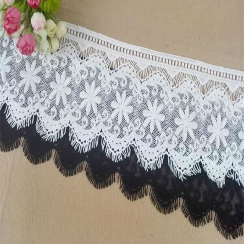15cm Embrodiary Lace Trim Fabric Water Soluble Lace Ribbon For Sewing Bridal Wedding Dress Crafts