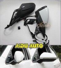 استخدام ل VW Golf 7 MK7 VI مرآة مع غطاء السيارات للطي الكهربائية للطي مرآة التبديل غطاء نظارات 5GG