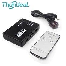 ThundeaL Switcher HDMI 3/5 Entrada y 1 de Salida 1080 P HDMI Switch IR Teledirigido para PS3 Xbox HDTV DVD TV Proyector No divisor