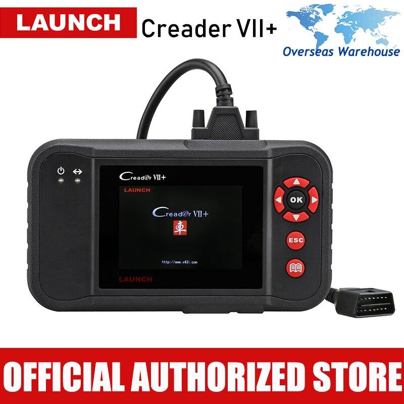 Оригинальный LAUNCH Creader VII + Профессиональный Авто читальный инструмент кодов Creader 7+ Двигатель диагностический инструмент Трансмиссии ABS Airbag