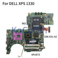 KoCoQin Laptop motherboardFor DELL XPS 1330 M1330 8600M Moederbord 06247-1 CN-0PU073 0PU073 965 G86-631-A2 DDR2