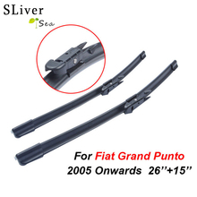 SLIVERYSEA Wipers For Fiat Grande Punto 26+15 Rubber Windscreen Blades Promotions Car Accessories CPB107