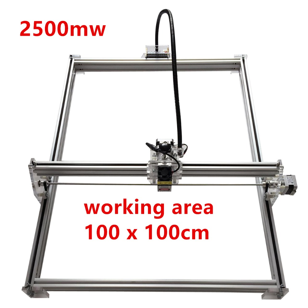 2500mw Mini desktop DIY Laser engraving engraver cutting machine Laser Etcher CNC print image of 100*100cm big working area