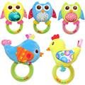 baby early educational toys Baby Rattle hand Bell Toy 4 Styles Owl Bird Chicken Animals Plush Baby rattling cotton baby toys
