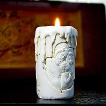 Silikon mold kerze formen Katholischen heiligen familie von drei handmade candle form halter mould aroma steinformen