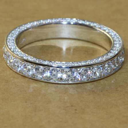 3 5mm Luxury Quality Carat Wedding Engagement Vintage Infinity Bands Anniversary Ring Genuine Sterling