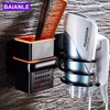 Multi Function Durable Aluminium ABS Plastic Wall Mount Hair Dryer Holder Stand And Organizer Bathroom Drier
