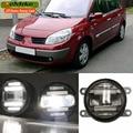 Eemrke Xenon blanco High Power 2in1 LED DRL proyectores antiniebla con lente para Renault SCENIC 2 3 4 2003-2016