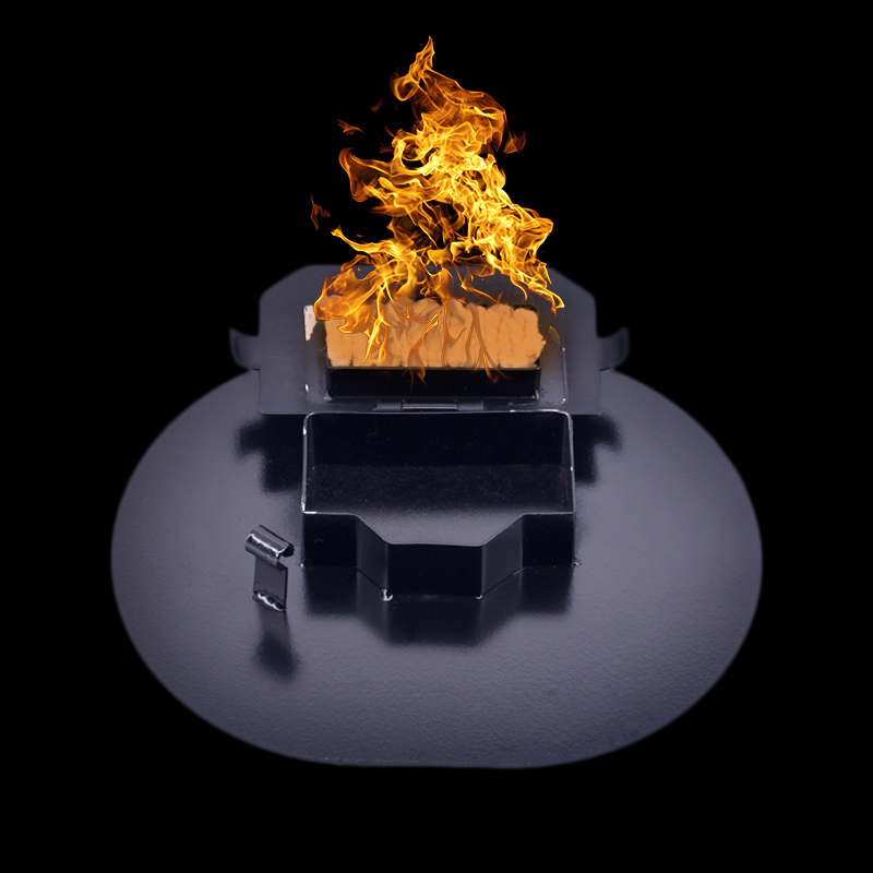 Dispositif d'allumage pour feu chapeau pliant tours de magie accessoire scène magique feu accessoires magiques feu spectacle de feu pour professionnel magican
