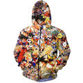 Anime Dragon Ball Z Characters Hoodie Zipper Men Outerwear Vegeta Goku 3D Printing Tracksuits Homme Hooded Sweatshirt For Unisex