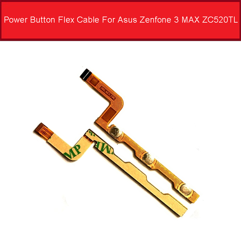 Power Button Flex Cable For Asus Zenfone 3 MAX ZC520TL Power Flex Ribbon For Asus ZC520TL Volume Key_FPC Flex Cable Parts