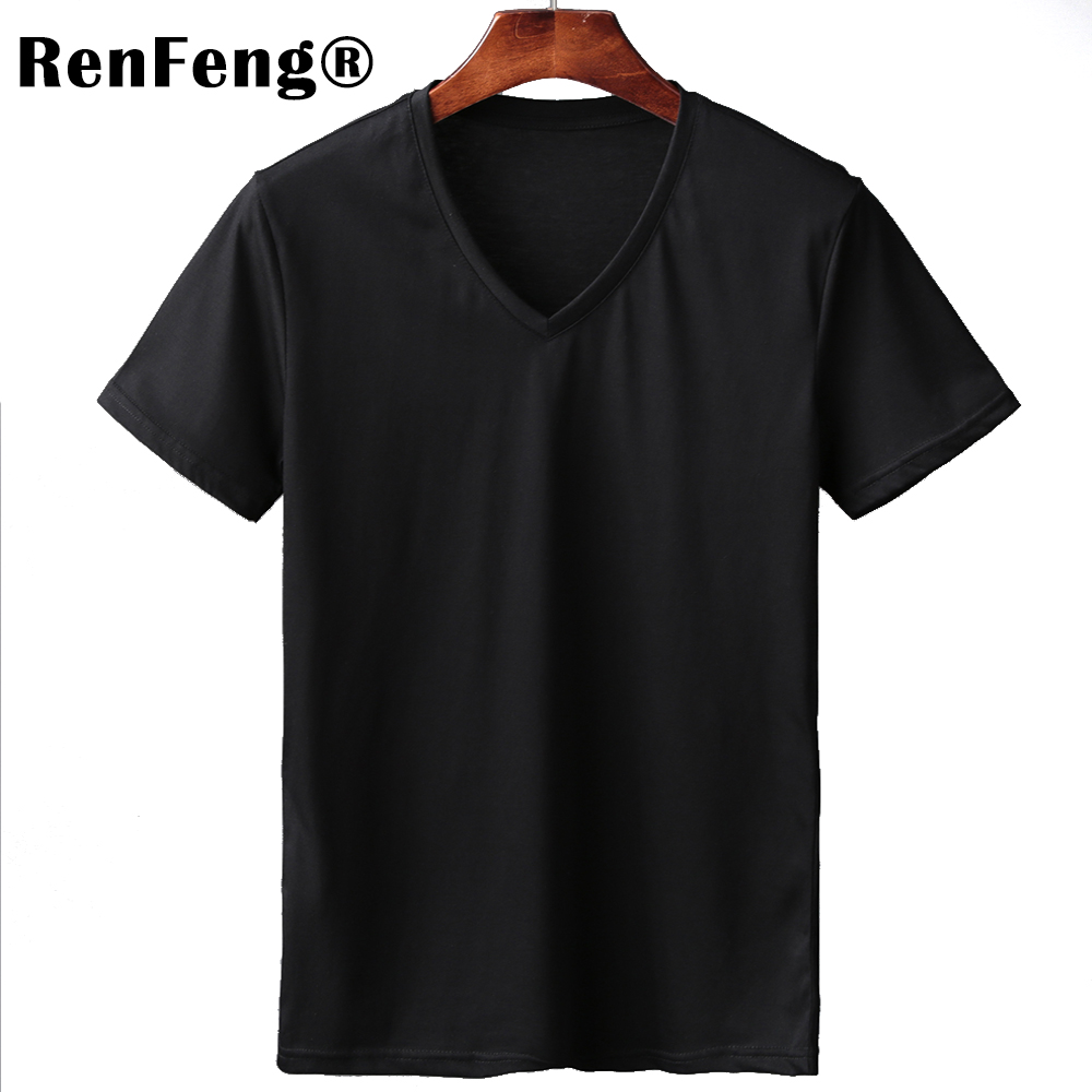2018 Free Shipping New Summer Pink Gray Black White T shirts Men Short Sleeve Mercerized Cotton T-shirt 4 colors Clothing Brand (3)