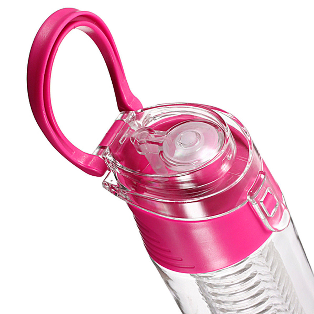 700ML Fruit Juice Infuser Water Bottle BPA Free Flip Lid Leak Proof Outdoor Tour Sport Drink Shaker Bottle