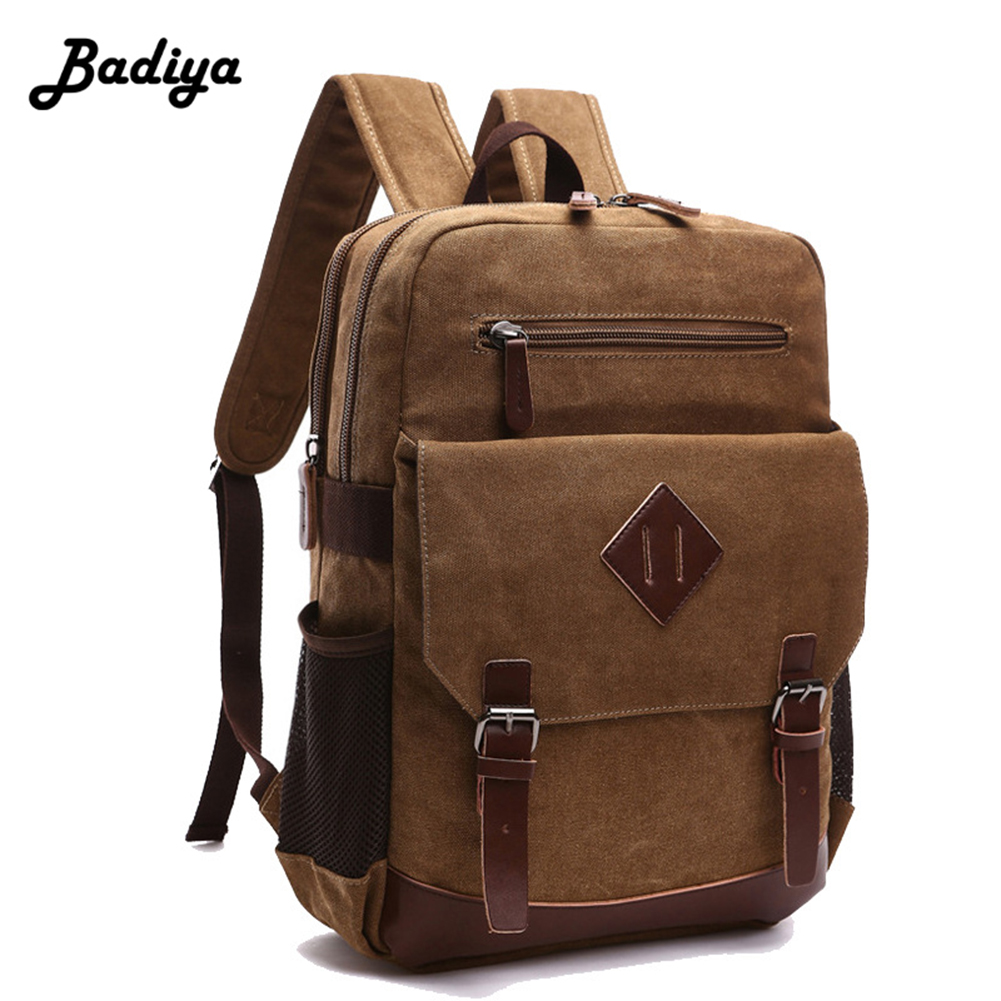 New Men Canvas Backpack Laptop Vintage Shoulder Bag Casual Trevel Unisex Large Capacity Multifunction Moshila coofit 3 in 1 multifunction unisex backpack bagpack retro canvas laptop backpacks for women men travel daypack shoulder bag