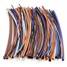 100 шт Ассорти Соотношение 2:1 термоусадочный комплект трубок 6 размер электронная обёрточная бумага провод кабель термоусадочная трубка аксессуары