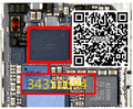 3 pçs/lote original novo para tela de toque do iphone 6 6 + 6 plus u2402 controlador motorista ic chip de cor preta