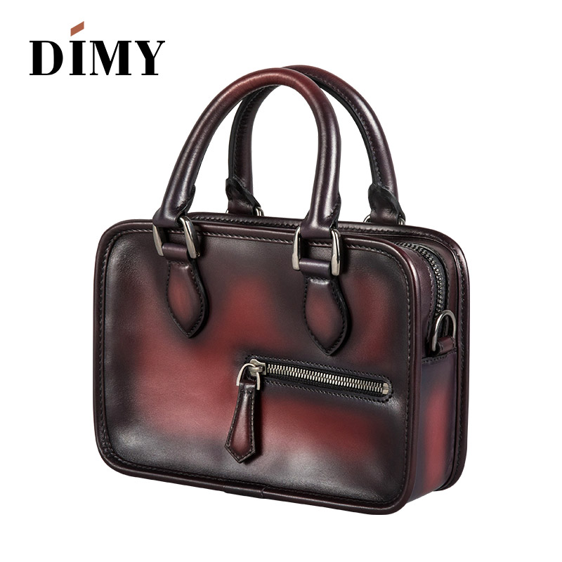 DIMY 2019 Newest Italian Calfskin Leather Womens Briefcase Handbags Totes Wild Shoulder Bags Small Square Messenger Bag SimpleDIMY 2019 Newest Italian Calfskin Leather Womens Briefcase Handbags Totes Wild Shoulder Bags Small Square Messenger Bag Simple