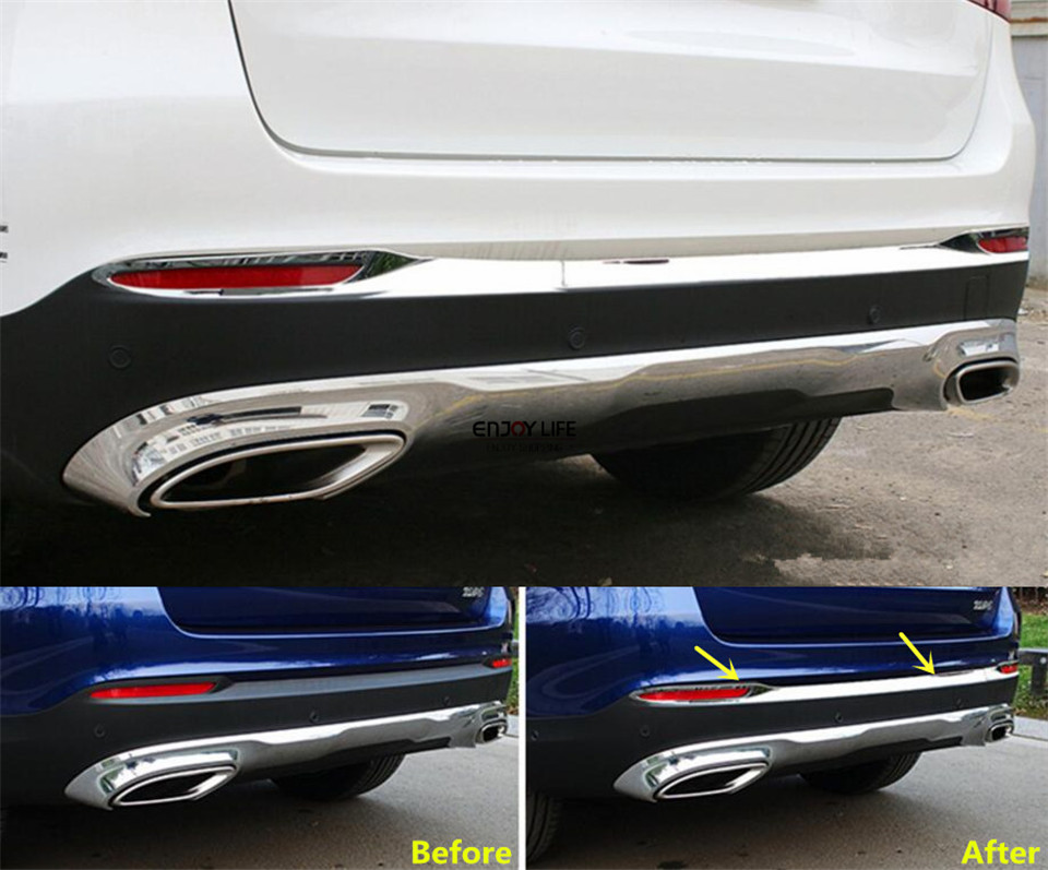купить 2pcs Rear Bumper Fog Light Cover Trim For Mercedes Benz GLC Class X253 2015 2016 недорого