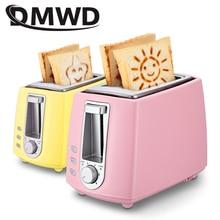 DWMD электрический тостер из нержавеющей стали Бытовая Автоматическая выпечка хлебопечка машина для завтрака тост Сэндвич Гриль духовка 2 ломтика