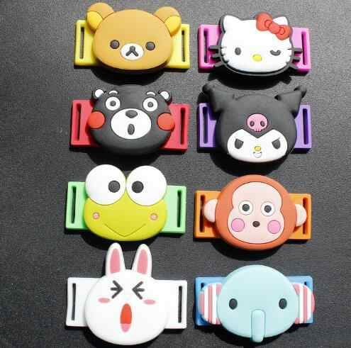 Fashion Silicone Animal Head Cartoon Shoelace Buckle One Pair Free Shipping