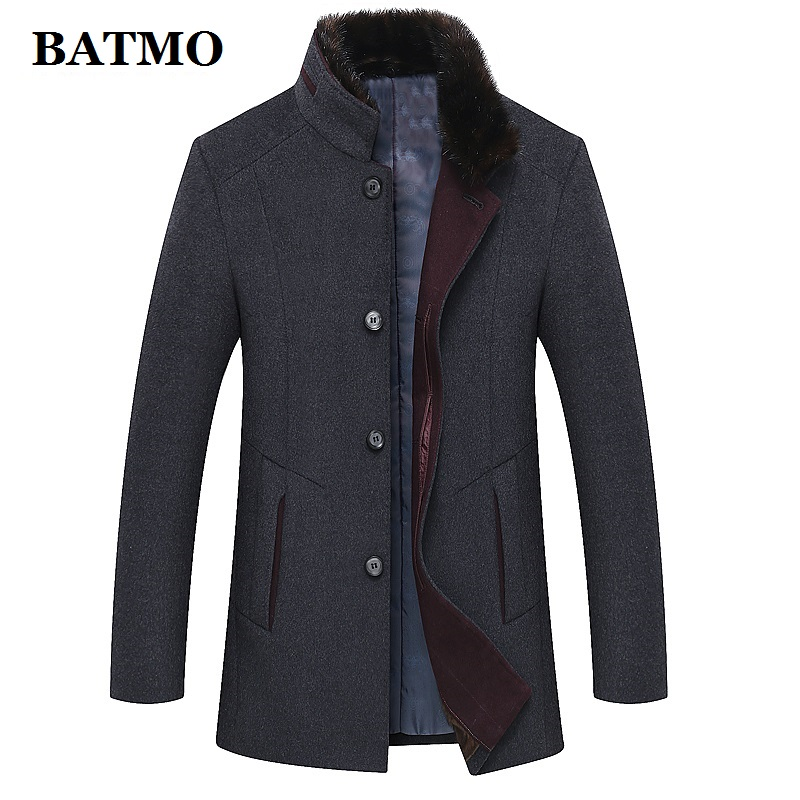 BATMO 2019 New Arrival Winter High Quality Wool Casual Trench Coat Men,men's Thicked Wool Jackets Plus-size M-6XL  1658