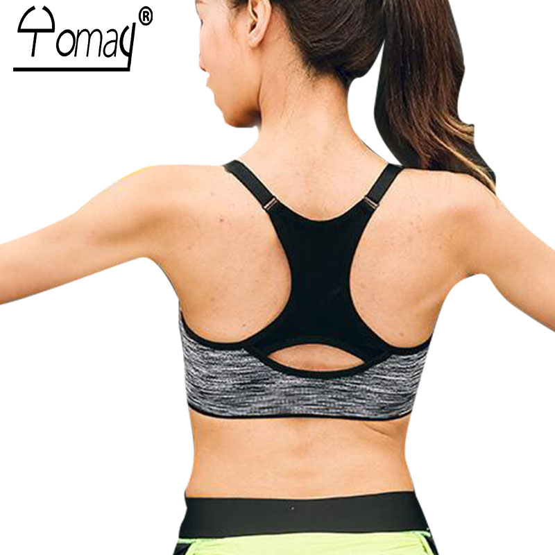590a368d5eb 2019 Yomay Women Sports Bras Fitness Sports Bra Top Shockproof ...