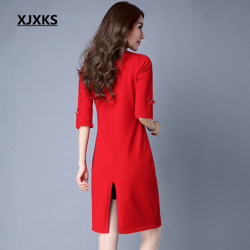 xjxks sexy ladies clothing new fashion 2018 long christmas sweaters pull femme back split design unique sweater in pullovers from womens clothing - Unique Christmas Sweaters