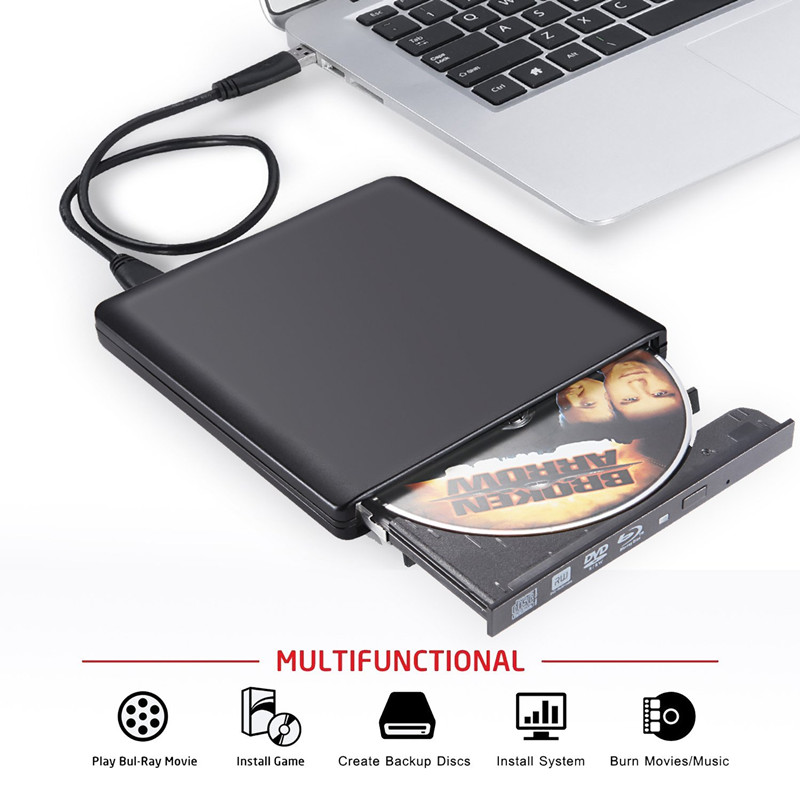 USB 3.0 Bluray Burner Writer BD-RW External DVD Drive Portatil Blu ray Player CD/DVD RW Optical Drive for Laptop Computer Apple external blu ray drive slim usb 3 0 bluray burner bd re cd dvd rw writer play 3d 4k blu ray disc for laptop notebook netbook