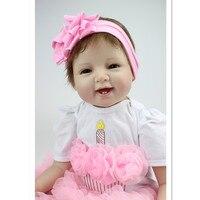 Silicone Reborn Baby Dolls Newborn Doll Toys for Children's Birthday Gift,50 CM Real Reborn Babies Doll