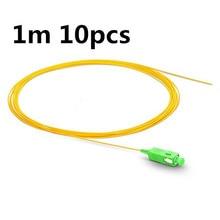 QIALAN 1m/10pcs SC APC fiber pigtail Simplex 9/125 0.9MM PVC Single Mode G657A Fiber Optic Pigtail, OPTICAL CABLE