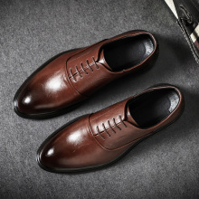 2019 New Leather Casual Men Shoes Fashion Flats Round Toe Comfortable Office Dress