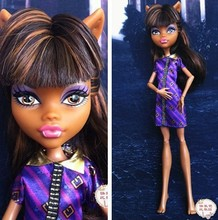 Original monster inc high dolls/Clawdeen wolf/New Styles plastic toys Best gift without box Free shipping Moveable Joint Body